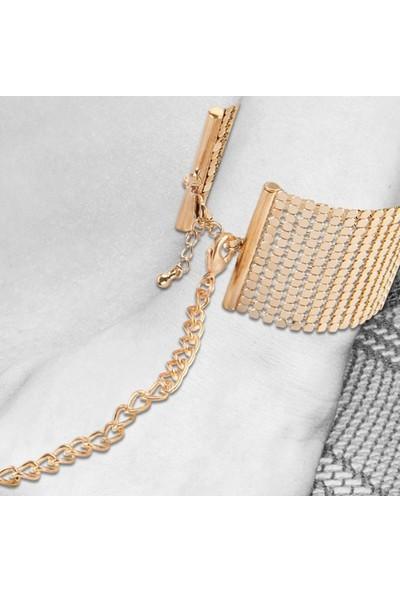 Bijoux Indiscrets Desir Metallique Metal Örgü Kelepçe Bileklik Altın