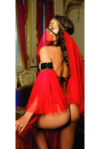 Elawin 8060 Kırmızı Tüllü Dansöz Kostümü