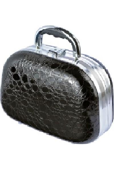 Tarko Lionesse Oval Büyük Bavul Tipi Çanta 364 - Yılan Derisi Siyah