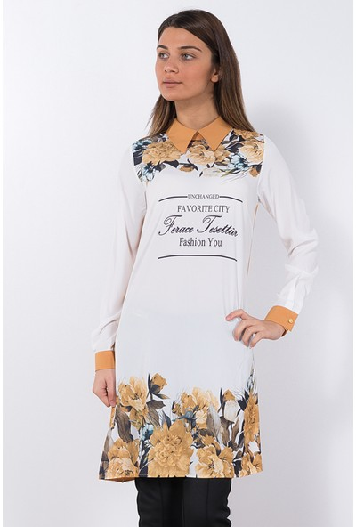 Modaverda Bayan Rahat Kesim Tunik Kahverengi Renk