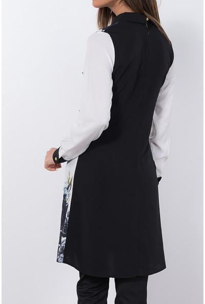 Modaverda Bayan Rahat Kesim Tunik Siyah Renk