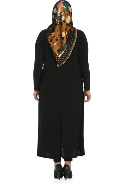Modaverda Sandy Kumaş Elbise Siyah Renk