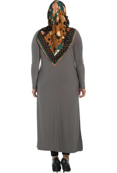 Modaverda Sandy Kumaş Elbise Vizon Renk
