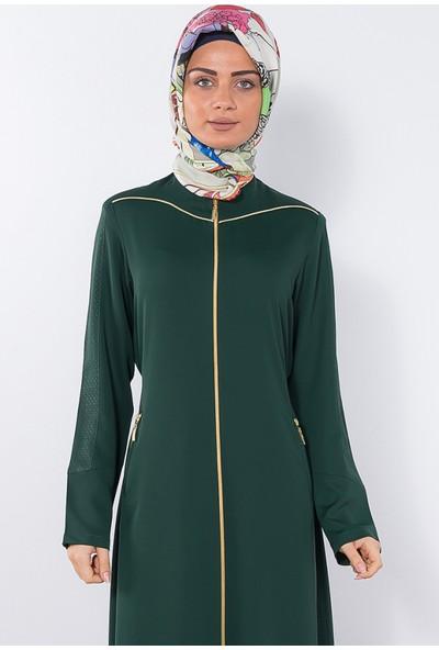 Modaverda Ferace Asimetrik Biyeli Yeşil Renk