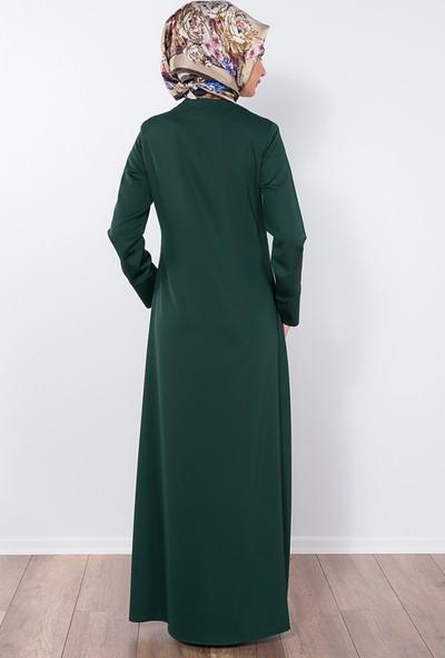 Modaverda Ferace Papatya Lazer Kesim Yeşil Renk