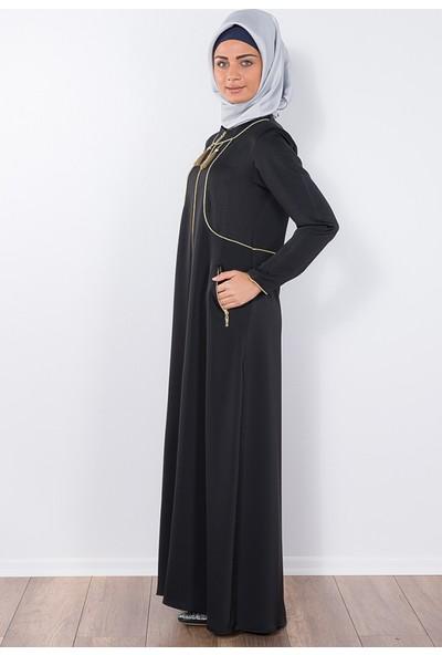 Modaverda Ferace Bolerolu Biyeli Siyah Renk