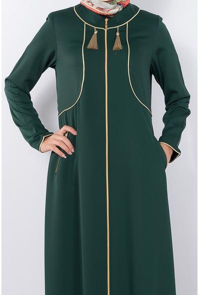 Modaverda Ferace Bolerolu Biyeli Yeşil Renk