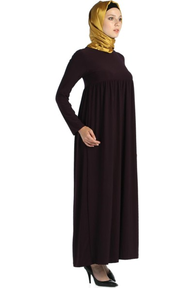 Modaverda Sandy Büzgülü Tesettür Elbise