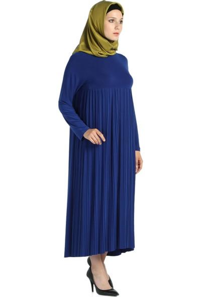 Modaverda Piliseli Sandy Tesettür Elbise
