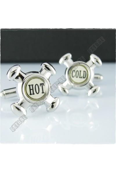 Extore Kol Düğmesi Hot Cold Vana Kd045