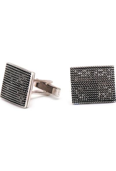 Sümer Telkari El Sarması Gümüş Kol Düğmesi 14