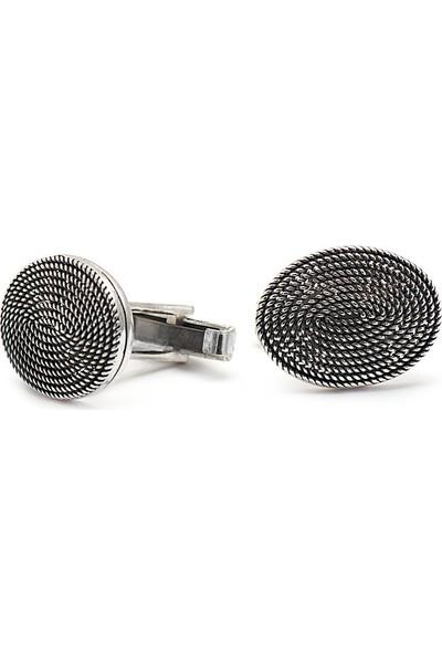 Sümer Telkari El Sarması Gümüş Kol Düğmesi 16