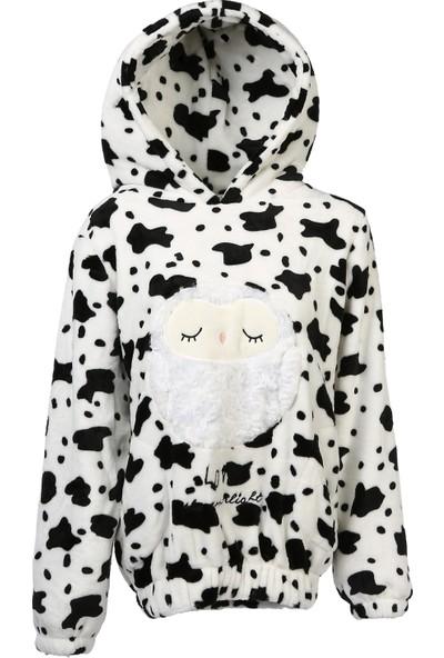 Bonalodi Baykuş Desen Bayan Polar Sweatshirt
