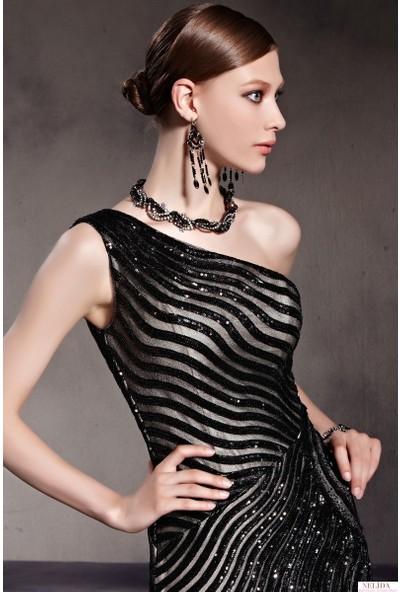 Nelida Zebra Desenli Elbise