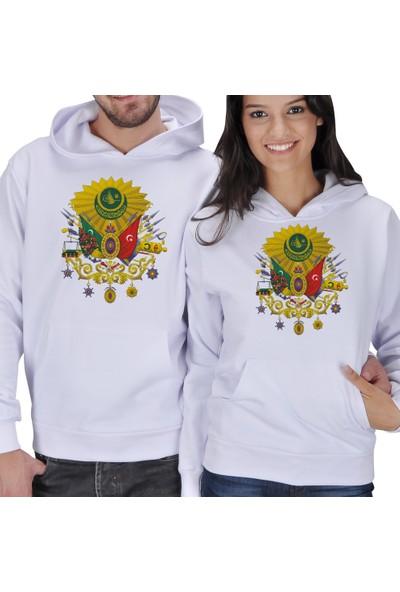Tisho Osmanlı Armalı Sevgili Kapüşonlu Sweatshirt