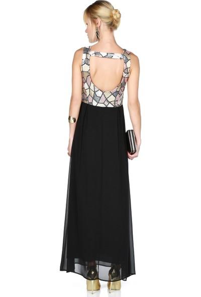 Sense 13664 Üstü Pulpayet Altı Sifon Sırtı Bantlı Elbise