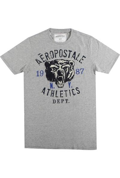 Aeropostale 1074-Lththr Erkek T-Shirt