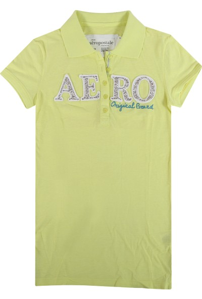 Aeropostale 4352-Yellow Kadın T-Shirt