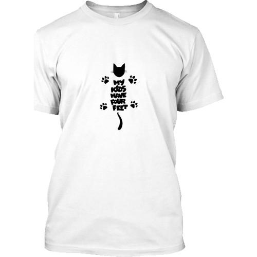 XukX Benim Çocuklarım Dört Ayaklı T-Shirt