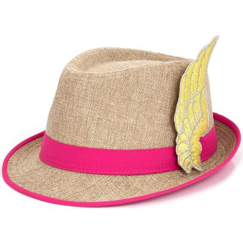 Bonalodi Pembe Melek Kanatlı Fötr Şapka