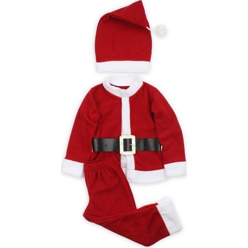 ModaKids Erkek Bebek Noel Baba Kostüm 019-2018-002