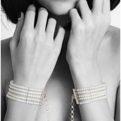 Bijoux Indiscrets Plaisir Nacre İnci Kelepçe Bileklik Beyaz