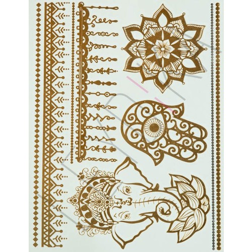 Leydika Flash Tattoo Geçici Metalik Dövme 460