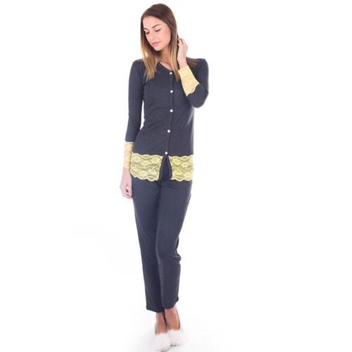 Ayyıldız 59439 Antrasit Pijama Takımı