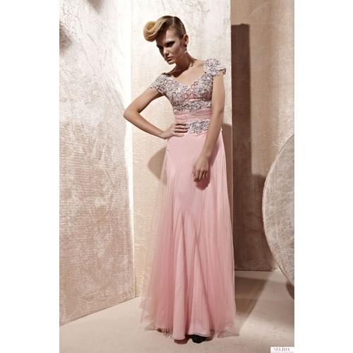 Nelida Üst Kısmı Güpür Tasarım Elbise