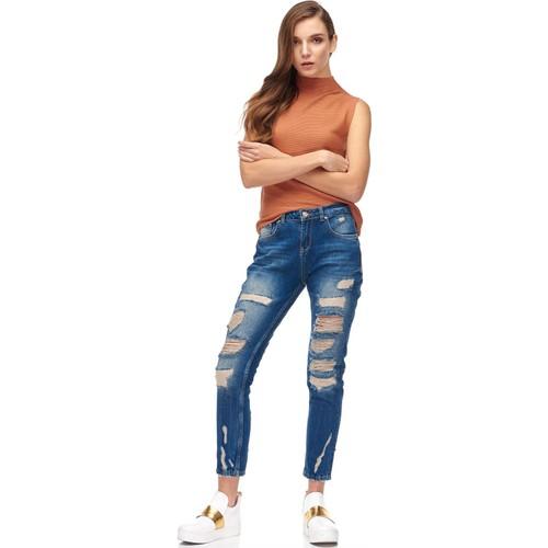 Dilvin 9010 Girlfriend Fit Pantolon