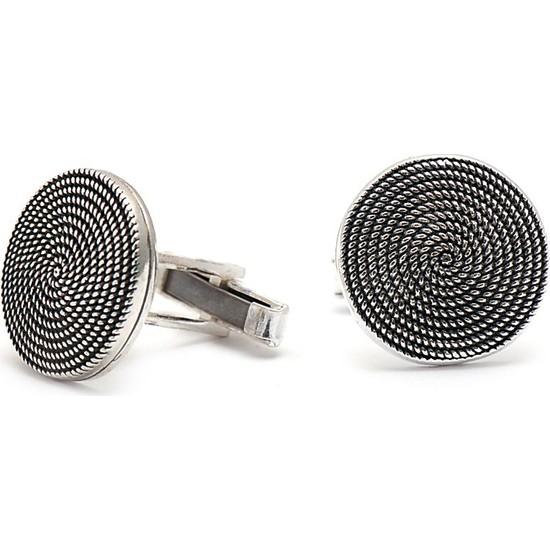 Sümer Telkari El Sarması Gümüş Kol Düğmesi 13