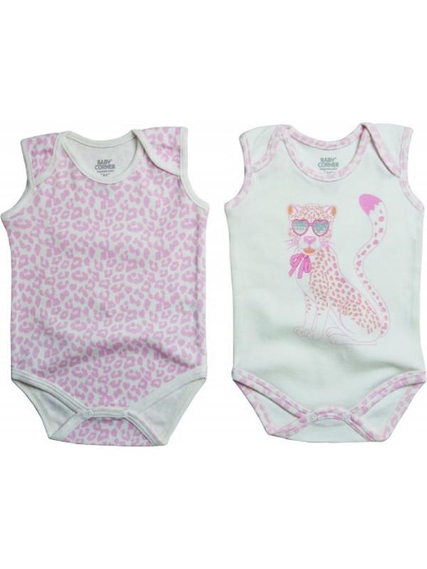 Baby Corner Body Kolsuz 2'li Çita Ekru - Pembe