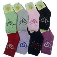 Ertuğ Cotone Kız Bebek Çocuk Havlu Çorap 3'lü Paket