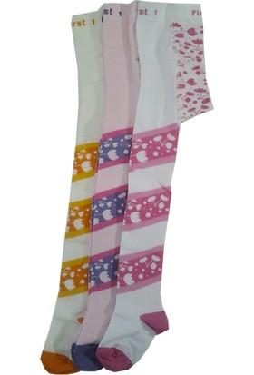 Lababy Kız Bebek Çocuk Renkli Desenli Likralı Külotlu Çorap Asorti