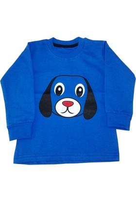 Lababy Sevimli Köpek Erkek Çocuk Sweat Mavi 1 - 5 Yaş