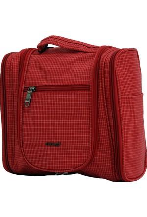 Ççs 40162-K Kırmızı Makyaj Seyahat Çantası