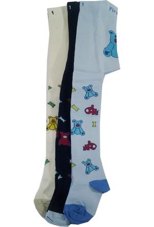 Lababy Erkek Bebek Çocuk Renkli Desenli Likralı Külotlu Çorap Asorti