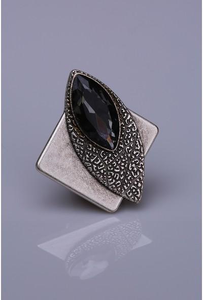 Fsg Takı Vizon Kristal Gümüş Kaplama Mıknatıslı Broş