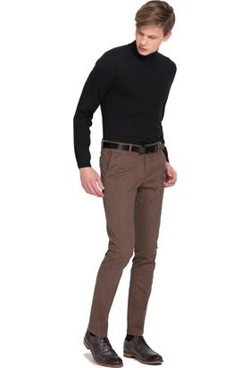 Cacharel Erkek Dokuma Spor Pantolon Kahverengi