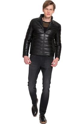 Cacharel Erkek Deri Ceket Siyah