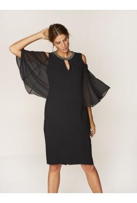 Faik Sönmez Abiye Elbise Siyah 36420