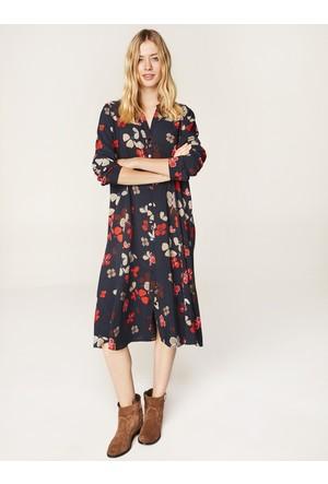 Faik Sönmez Elbise Lacivert 35119