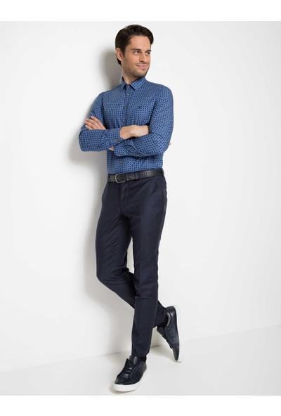 Cacharel Erkek Gömlek Uzun Kol Lacivert
