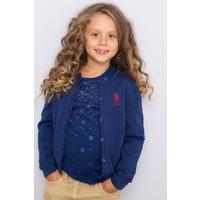 U.S. Polo Assn. Kız Çocuk Ren Hırka Lacivert