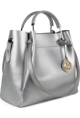 Beverly Hills Polo Club 650Bhp0654 Gümüş Kadın Çanta