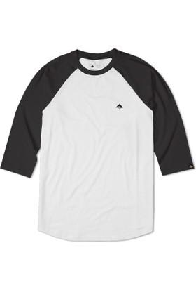 Emerica Triangle Raglan Black White Tişört
