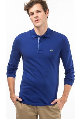 Lacoste Uzun Kollu Erkek Polo Sweatshirt Mavi PH1802.02M