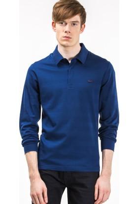 Lacoste Uzun Kollu Erkek Polo Sweatshirt Mavi PH7118.F9F