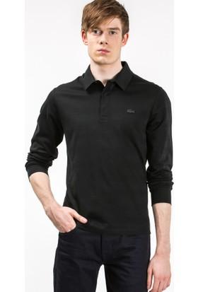 Lacoste Uzun Kollu Slim Fit Erkek Polo Sweatshirt Gri PH7118.T35