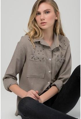Moda Shop Taş Detaylı Gömlek